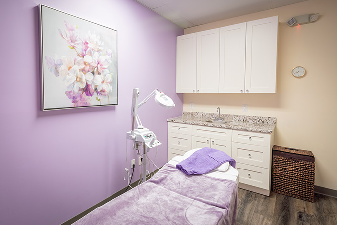 aesthetician services room